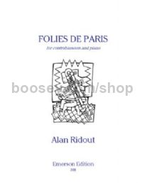 Folies de Paris for contrabassoon & piano