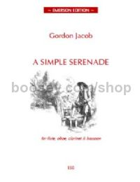 A Simple Serenade  for flute, oboe, clarinet, bassoon