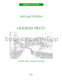 Holiday Pieces for flute, oboe, clarinet, bassoon