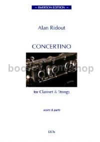 Concertino for Clarinet and Strings (score)