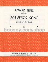 Solveig's Song (from Peer Gynt) - medium voice