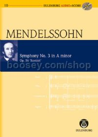 Symphony No.3 in A Minor, Op.56 (Orchestra) (Study Score & CD)