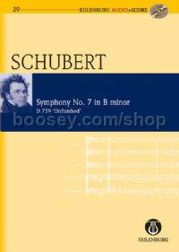 Symphony No.7 in B Minor, D759 (Orchestra) (Study Score & CD)