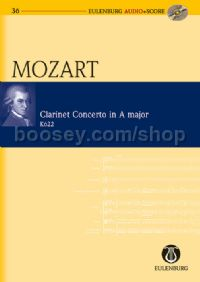 Concerto for Clarinet in A Major, K 622 (Clarinet & Orchestra) (Study Score & CD)