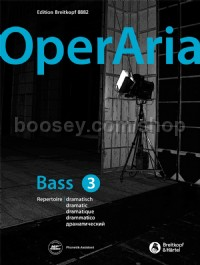 Operaria Bass 3 Dramatic Repertoire (Book & Online Audio)