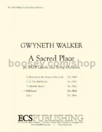 A Sacred Place for SATB choir & string orchestra (score)