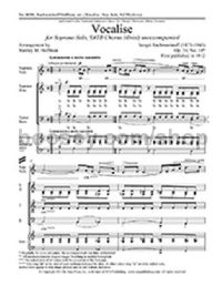 Vocalise for SATB choir with soprano solo