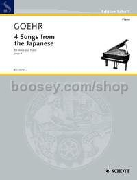 Four Songs from the Japanese op. 9 (vocal score)