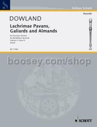 Lachrimae Pavans, Galiards and Almands Vol. 4 - 5 recorders (SATTB/SAATB) (performance score)