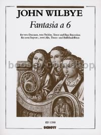 Fantasia à 6 - 6 recorders (SSAATB) (score and parts)