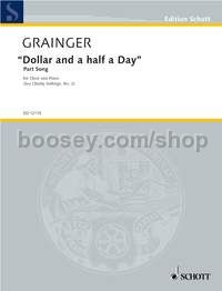 Dollar and a Half a Day - men's choir (choral score)