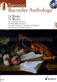 Baroque Recorder Anthology Vol. 3 (Treble Recorder - Book & CD)