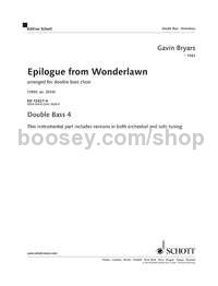 Epilogue from Wonderlawn - double bass 4 part