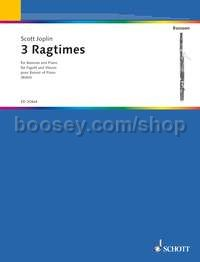 3 Ragtimes - bassoon & piano