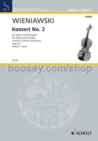Violin Concerto No. 2 in D minor op. 22 - violin & orchestra (full score)