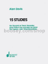 15 Studies for Descant or Tenor Recorder