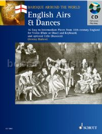 English Airs and Dances (Baroque Around the World series) Book & CD