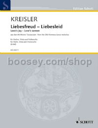 Liebesfreud/Liebeslied (arranged for string trio)