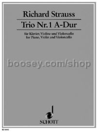 Trio No.1 A major for piano, violin and cello Av37 (score & parts)