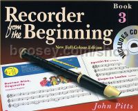 Recorder From The Beginning (new full-colour edition 2004) 3 Pupils (Book & CD)