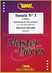 Sonata No. 3 in Am for Euphonium & Piano (Treble/Bass Clef)