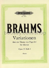 Variations on a Theme of Paganini Op.35 Vol.1