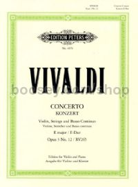 Concerto in E Major Op.3 No.12 RV 265 (Violin and Piano)
