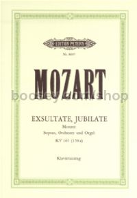 Exsultate, Jubilate K165 (Vocal Score)