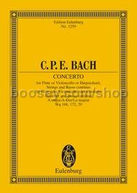 Concerto in A major for Flute or Cello or Harpsichord (Orchestra) (Study Score)