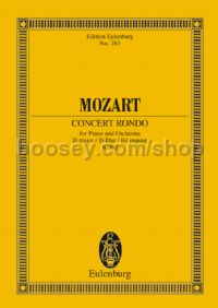 Concerto Rondo in D Major, K 382 (Piano & Orchestra) (Study Score)