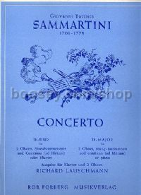 Concerto for 2 Oboes in D major - 2 oboes & piano