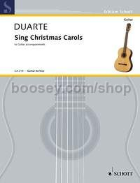 Sing Christmas Carols - voice and guitar