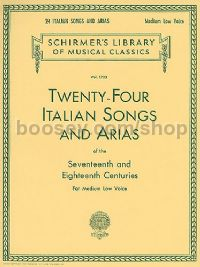 24 Italian Songs & Arias Medium Low