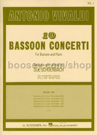 Concerti (10) vol.1 bassoon/piano