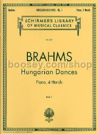Hungarian Dances For 1 Piano, 4 Hands Book 1 (Schirmer's Library of Musical Classics)