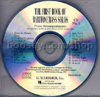 First Book Baritone/bass Solos CDs