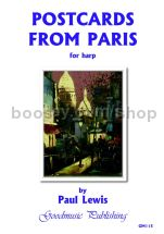 Postcards from Paris for harp solo