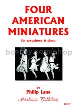 Four American Miniatures for saxophone & piano