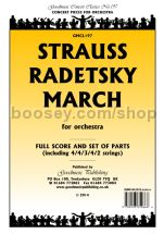 Radetsky March for orchestra (score & parts)