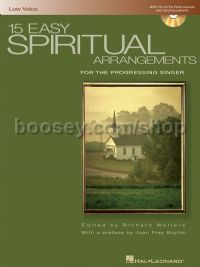 15 Easy Spiritual Arrangements (Bk & CD) low voice