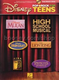 Disney Pop & Rock For Teens Young Women's Ed (Book & CD)