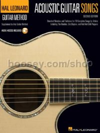 Acoustic Guitar Songs - 2nd Edition (Book & Online Audio)