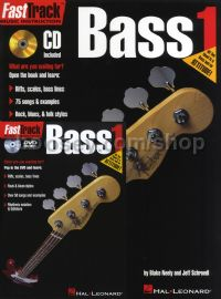 Fast Track Bass Guitar Method Bk/CD/DVD