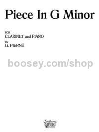 Piece in G minor for clarinet & piano