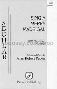 Sing a Merry Madrigal for SATB choir