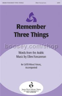 Remember Three Things for SATB choir