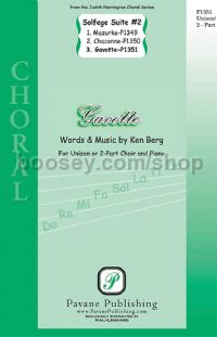Gavotte for SA choir