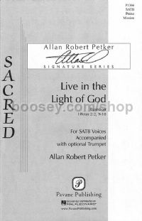 Live in the Light of God for SATB choir