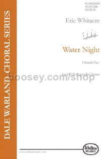 Water Night (SATB)