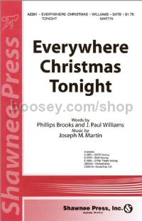 Everywhere Christmas Tonight for SATB choir